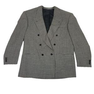 Salvatore Paterno Men's black check sport jacket